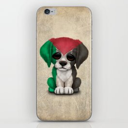 Cute Puppy Dog with flag of Palestine iPhone Skin