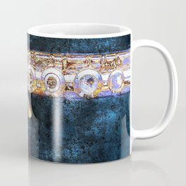 A Miyazawa open-holed flute body is captured in an abstract colorful image Coffee Mug