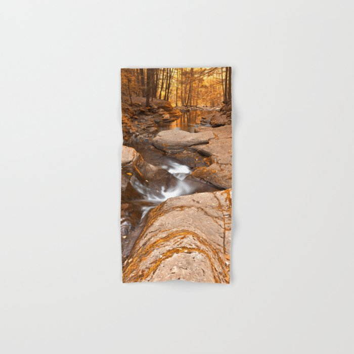 Worlds End Forest Stream - Gold Rapture Hand & Bath Towel