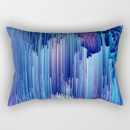 Beglitched Waterfall - Abstract Pixel Art Rectangular Pillow
