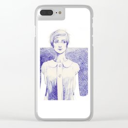 Short Lines Clear iPhone Case