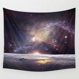 Milky Way Earth Wall Tapestry