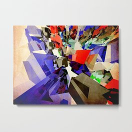 Colorful Abstract Geometric Cluster Metal Print