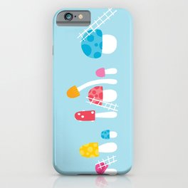Mushroom Maintenance Blue iPhone Case
