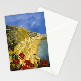 Vintage Amalfi Italy Travel Stationery Cards