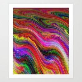 Smeared Rainbow Art Print