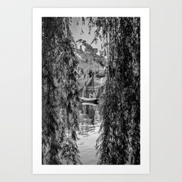 Looking through the wind of time  Art Print