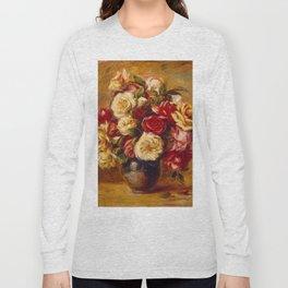 "Auguste Renoir ""Bouquet of Roses"" Long Sleeve T-shirt"
