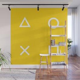 Yellow Gamer Pattern Wall Mural