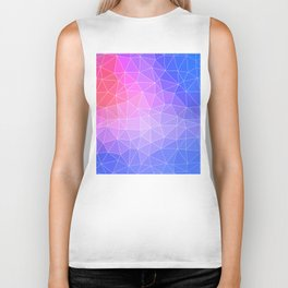 Abstract Colorful Flashy Geometric Triangulate Design Biker Tank
