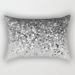 Soft Silver Gray Glitter #1 (Faux Glitter - Photography) #shiny #decor #art #society6 Rectangular Pillow
