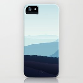 Blue relaxing landscape - mountains - happy days iPhone Case