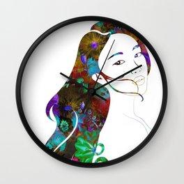 Beauty Lingers Wall Clock