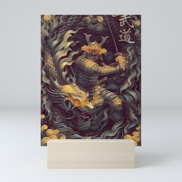 Samurai Ninja Warrior Katana Mini Art Print