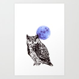 A Hoot Art Print