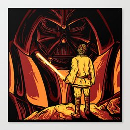 Darth Vader and Luke Skywalker Canvas Print
