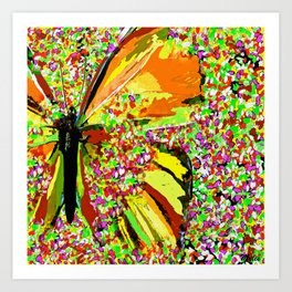 Butterfly Autumn So Pretty ORANGE AND GOLD Art Print
