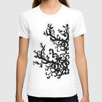 antler T-shirts featuring Antler Vines by Mad Love