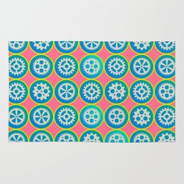 Gearwheels pattern Rug