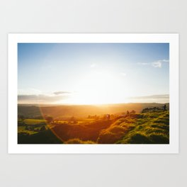 Peak District Sunset Art Print