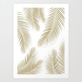 Palm Leaves - Gold Cali Vibes #3 #tropical #decor #art #society6 Art Print