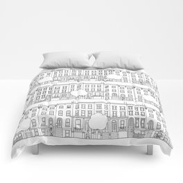 blocks of Brooklyn Comforters