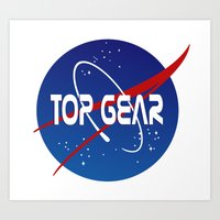top gear Art Prints featuring Top Gear 'NASA' logo by not-the-stig