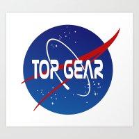 nasa Art Prints featuring Top Gear 'NASA' logo by not-the-stig