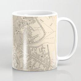Vintage Map of York England (1851) Coffee Mug
