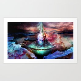 Entering Underworld Paradise Art Print