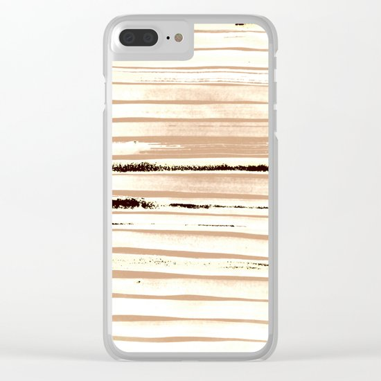 Brown Earth Lines Clear iPhone Case