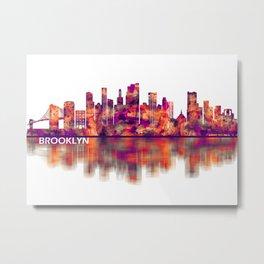 Brooklyn New York Skyline Metal Print