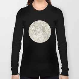 Star map of the Southern Starry Sky Long Sleeve T-shirt