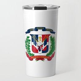 seal of the dominican republic-dominican,hispaniola,dominicana,antilles,caribean,santo domingo Travel Mug