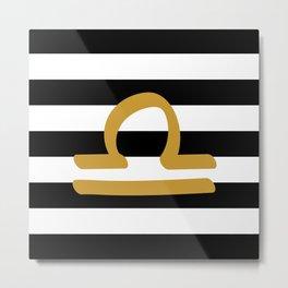 Libra Stripes Metal Print