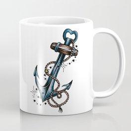 Blue anchor with stars Coffee Mug