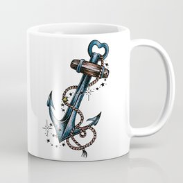 Blue anchor with stars Coffee Mug