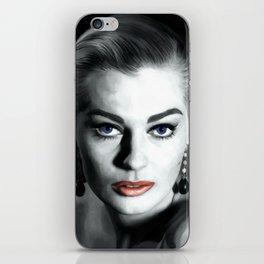 Anita Ekberg Large Size Portrait iPhone Skin