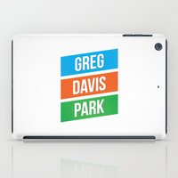 greg guillemin iPad Cases featuring Greg Davis Park by Parks of Seattle