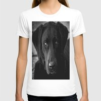 lab T-shirts featuring Loyalty  Black Lab  by Peggy Franz   Photography   FranzsFeatur