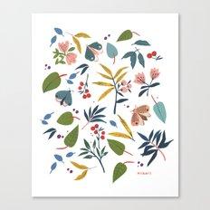 Moth Garden Canvas Print