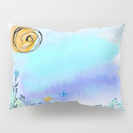 Blue Garden II Pillow Sham
