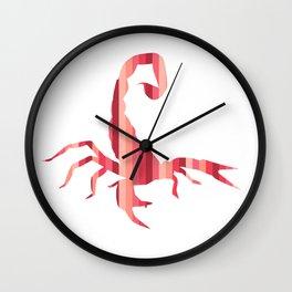 Fiery Striped Scorpion Wall Clock