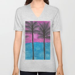 Tropical Getaway Unisex V-Neck