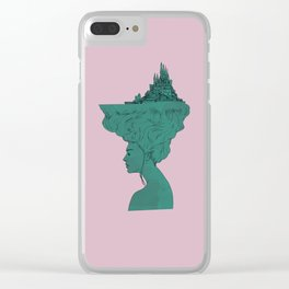 Castle in her hair SPRING Clear iPhone Case