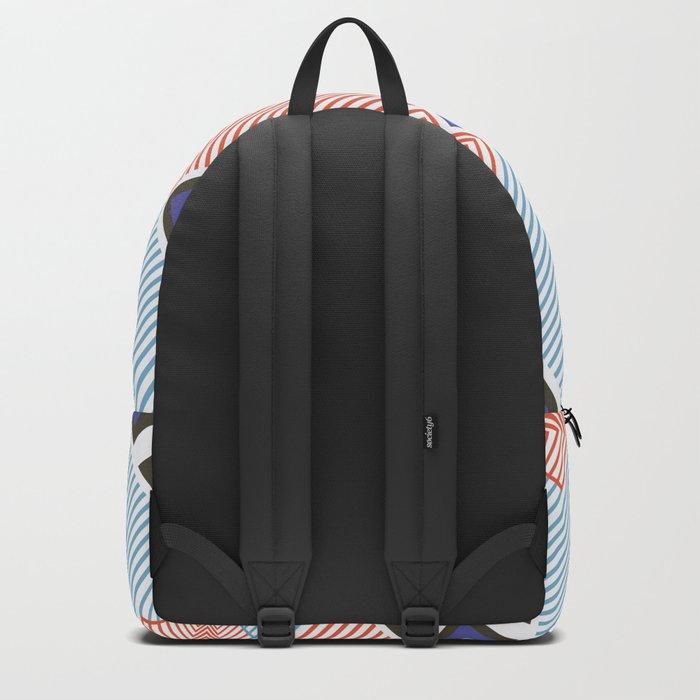 Blue red stripes Backpack