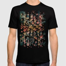 Buds and Branches Mens Fitted Tee LARGE Black