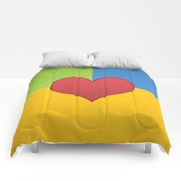 Heart in a Box Comforters