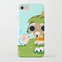 monster hunter iPhone & iPod Cases featuring Monster Hunter - Felyne and Poogie by tcbunny