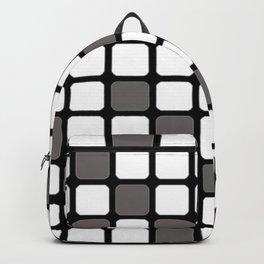 BLACK GREY AND WHITE RECTANGLE TILE  {BASIcs JHD} Backpack